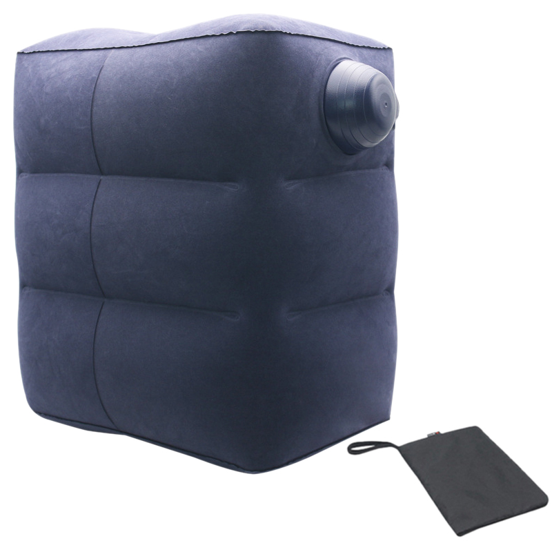 3-Layer Compression Inflatable Travel Mat Pvc Flocking Outdoor Inflatable Cushion Travel Pillow Pedal Multi-Function Pad Distr