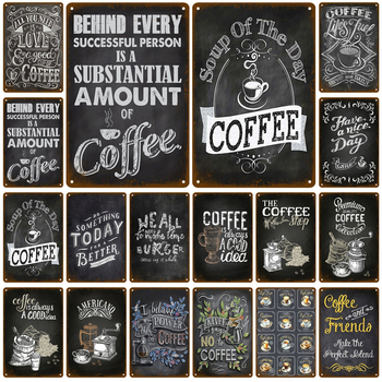 For Coffee Cafe Retro Pub Bar Decoration Tin Sign Shabby Chic Home Decor Plaque Metal Sign Wall Poster Vintage Decor Art Vintage