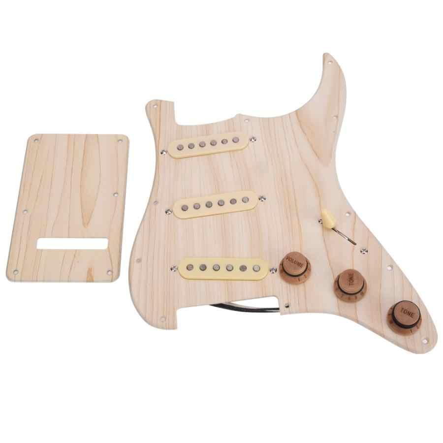 טבעי בצבע עץ חשמלי גיטרה טעון Pickguard סטנדרטי SSS סגנון pickguard לפנדר/חשמלי גיטרה
