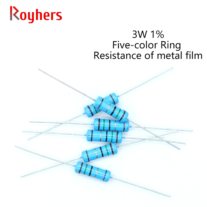 20 шт 3W металлический пленочный резистор 0R-22M 1% Допуск 160R 300R 390R 510R 1K 2,2 K 10K 13 16к 27K 39K 2 Ом электроники сопротивления