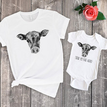 Farm Shirt Cowboy Farm Baby Gift Matching Family Outfits Baby Shower Gift New To The Herd Country 2020 Summer Print(China)