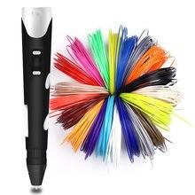 Aveiro 3d caneta 3 d impressão caneta com 50 100 200 metro abs filamento brinquedo criativo para o miúdo pintura desenho melhor presente de aniversário