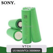 Sony 100% original vtc6 3.7v 3000mah, bateria de íon de lítio recarregável, ferramentas de brinquedo 18650 '', lanterna