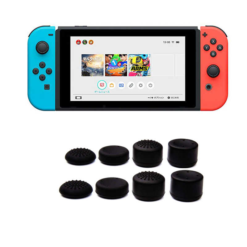 Anti-Slip Silicone Thumb Grips Thumb stick Caps Case For Controller Analog Cover For Nintend Switch Console