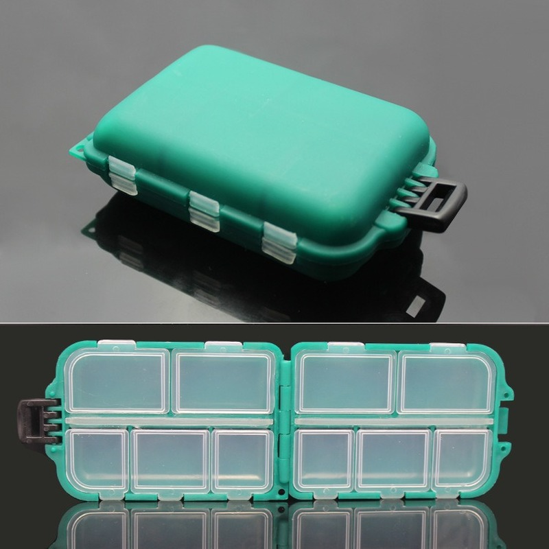 Green Plastic Multifuctional Fishing Tackle Box Large Capacity Lure Small Accessory Box Square Fishhook Box Outdoor Essential|Fishing Tackle Boxes| |  - title=