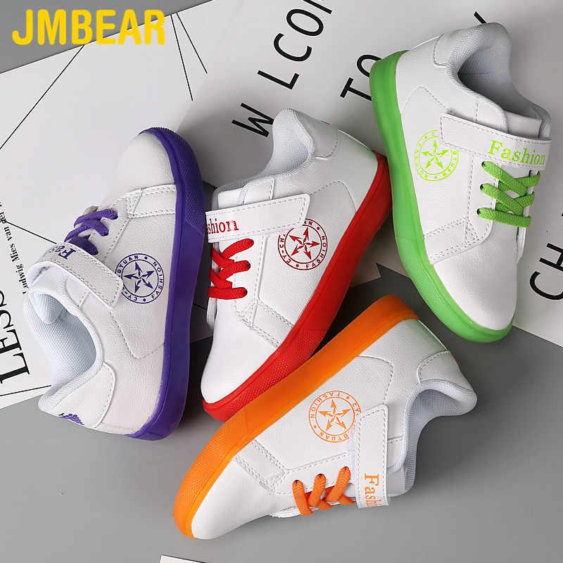JMBEAR מזדמן ילדים לוח נעלי ילדים ספורט חיצוני ריצה בנים וילדה נעלי кроссовки детские