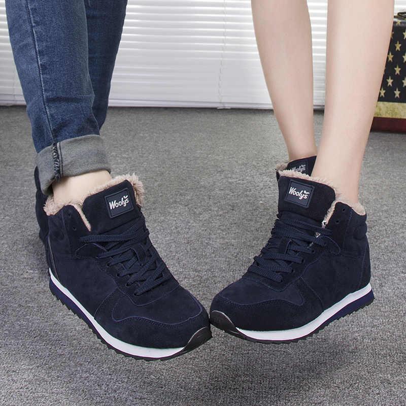 Las nuevas mujeres botas de mujer de invierno zapatos de Bota mujer Botines de piel botas de tobillo de las mujeres nieve botas mujer botas de invierno Plus tamaño 43