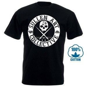 Sullen одежда Daniel Rocha Art Collective Мужская футболка Черная 011354