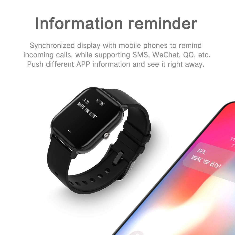 COLMI P8 Women Smart Watch Full Touch Fitness Tracker for iPhone 7