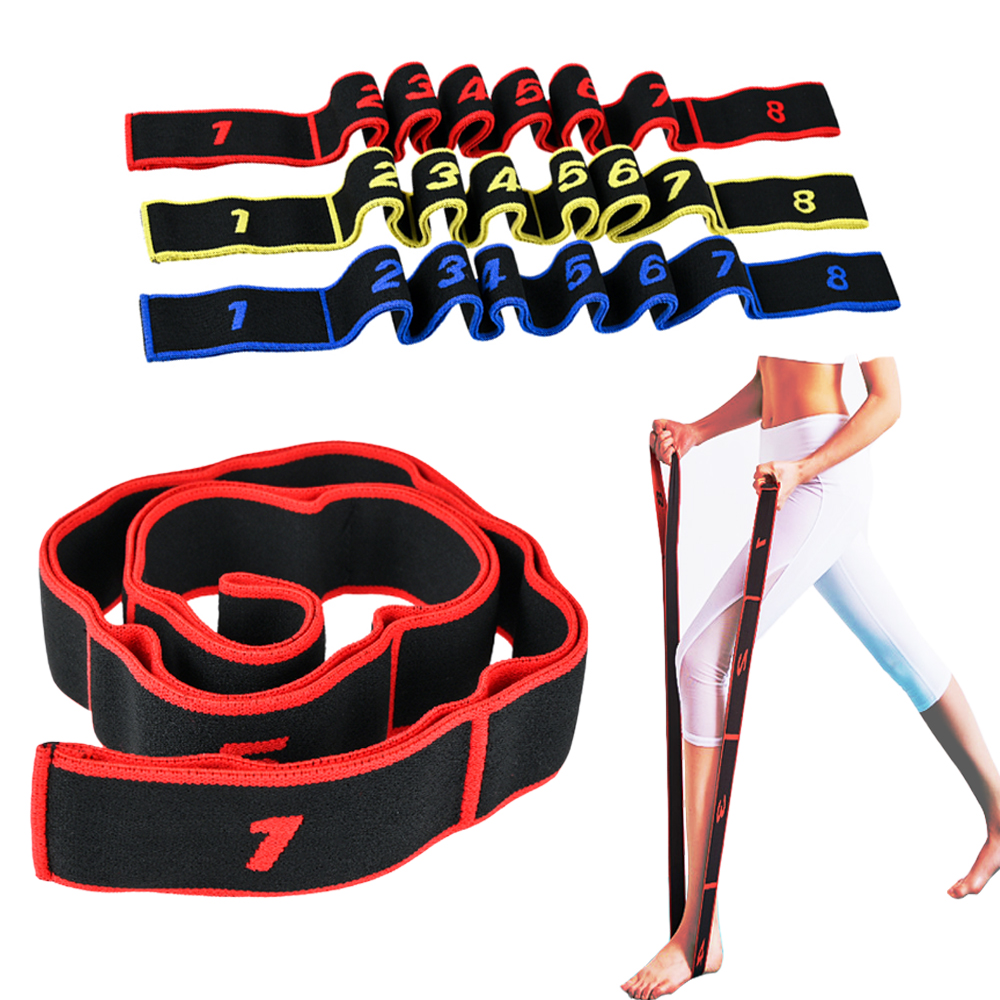 Number Yoga Pull Strap Belt Elastic Bands for Fitness Exercise Equipment Nylon Latex Dance GYM Fitness Exercise Resistance Bands(China)