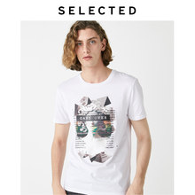 SELECTED Men's Printed Numbers Short-sleeved T-shirt S|419301534【Fan Get New Arrivals Coupons in the Description(China)