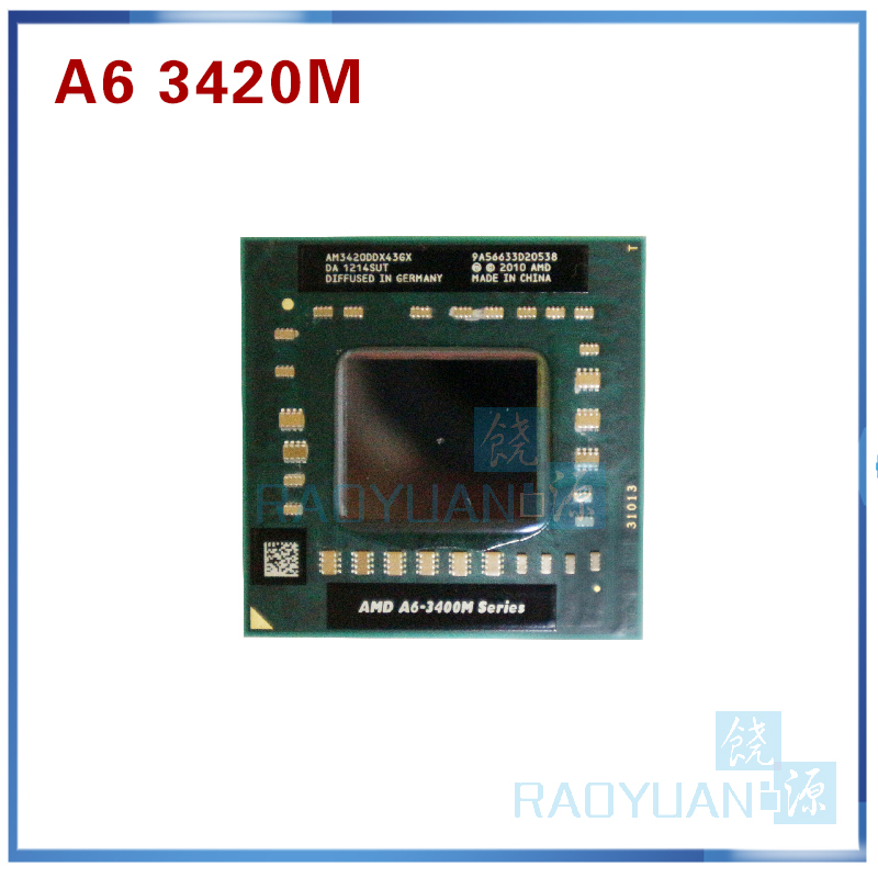 AMD Laptop Notebook CPU Processor A6 3400M Series A6-3420M A6 3420M 1.5Ghz/4M Socket FS1 A6 3420M AM3420DDX43GX