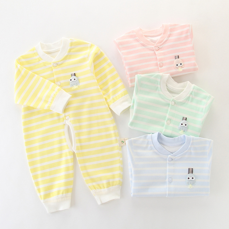 Newborns Clothes Baby Onesie HEATTECH Pure Cotton Romper Crawling Clothes Spring Autumn Winter Baby Early Autumn Clothing Thin