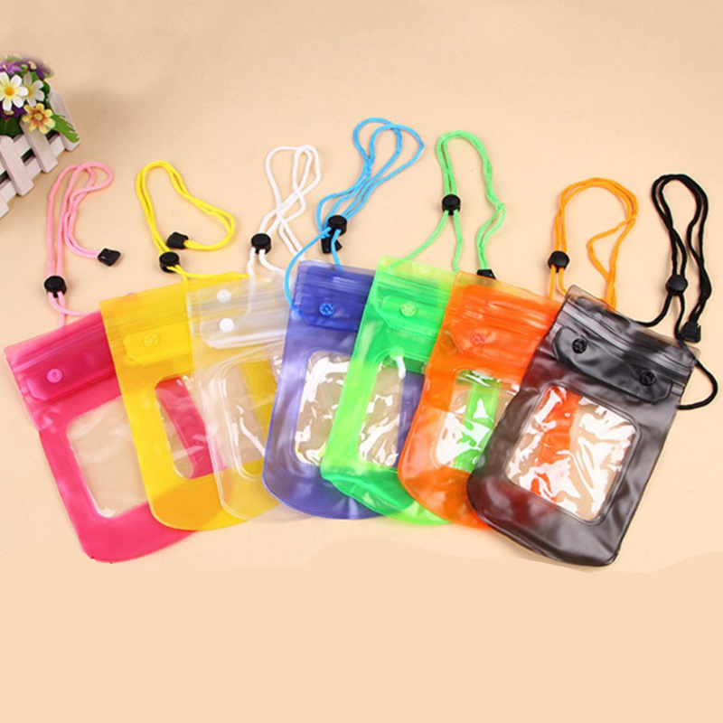 Universal Waterproof Pouch Cell Phones Portable Bag Convenient To Use Lightweight Useful Swimming Pool Drifting River Trace