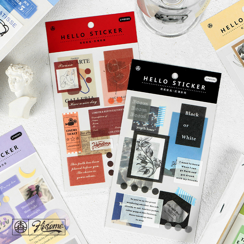 2 Sheets Hello Series Sticker Scrapbooking Creative DIY Bullet Journal Decorative Adhesive Paper Seal Label Stationery Supplies