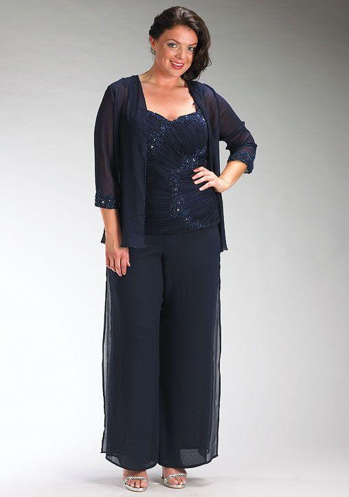 Plus Size 3 Pieces Pant Suits Dresses For Mother Of The Bride Dresses Sweetheart Neck Lace Long Cheap 2016 Spring Newest MM088