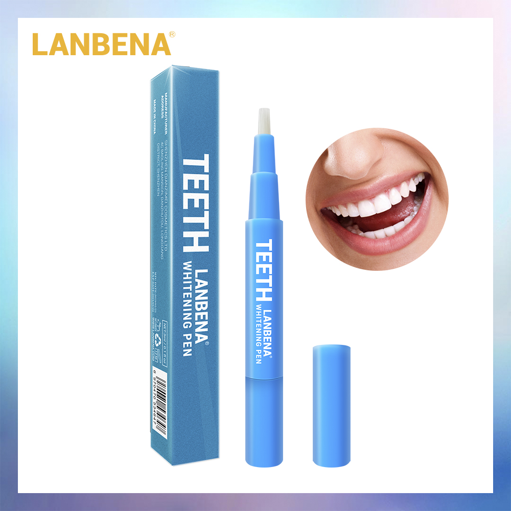 LANBENA Teeth Whitening Pen Cleaning Serum Removes Plaque Stains Dental Tools Oral Hygiene Tooth Gel Whitenning Brush Teeth 3ml