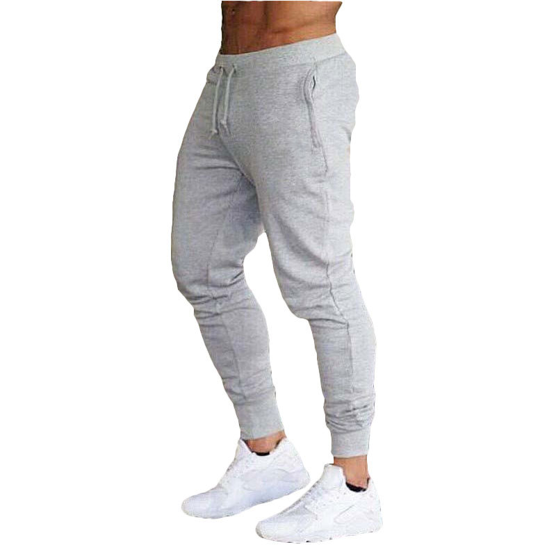 Mens Joggers Track Blank Pants Gyms Fitness Stitching Ankle Skinny Workout Sweatpants Trousers Male Brand Pants Men