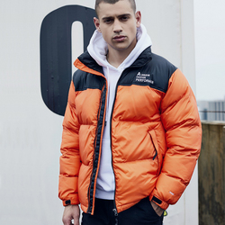 2019 Nieuwe Collectie Parka Kleding Mannelijke Mode Jas Kraag Man Losse Casual Stand Dikke Korte Patchwork Winter Noorden F Jas mannen