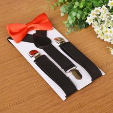 Performance бабочка галстук подтяжки пояс комплект мужские и женские клипсы подтяжки подтяжки детские% 27 подтяжки и весна детские осень T5S9