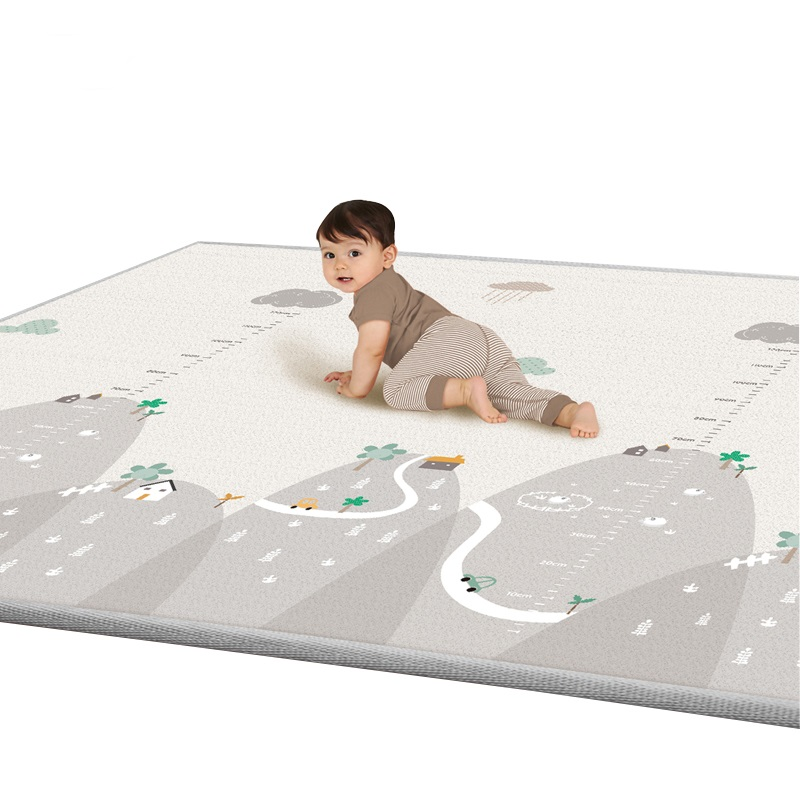200*180cm Play Floor Mat 1cm Thicken Foam Baby Playmat Double Side Printed Anti-skid Folding Game Pad Toddler Crawling Mat