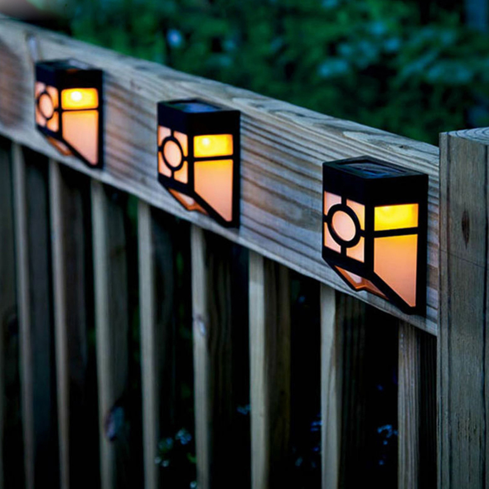 Retro Wall Light 2 Modes Solar Power LED Waterproof Fence Easy Installation Lamp For Household Outdoor Courtyard Decor