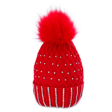 Womens New Winter Hat Cotton Knit Fashion Warm Adjustable Hood Soft Pompom Unisex Solid Color