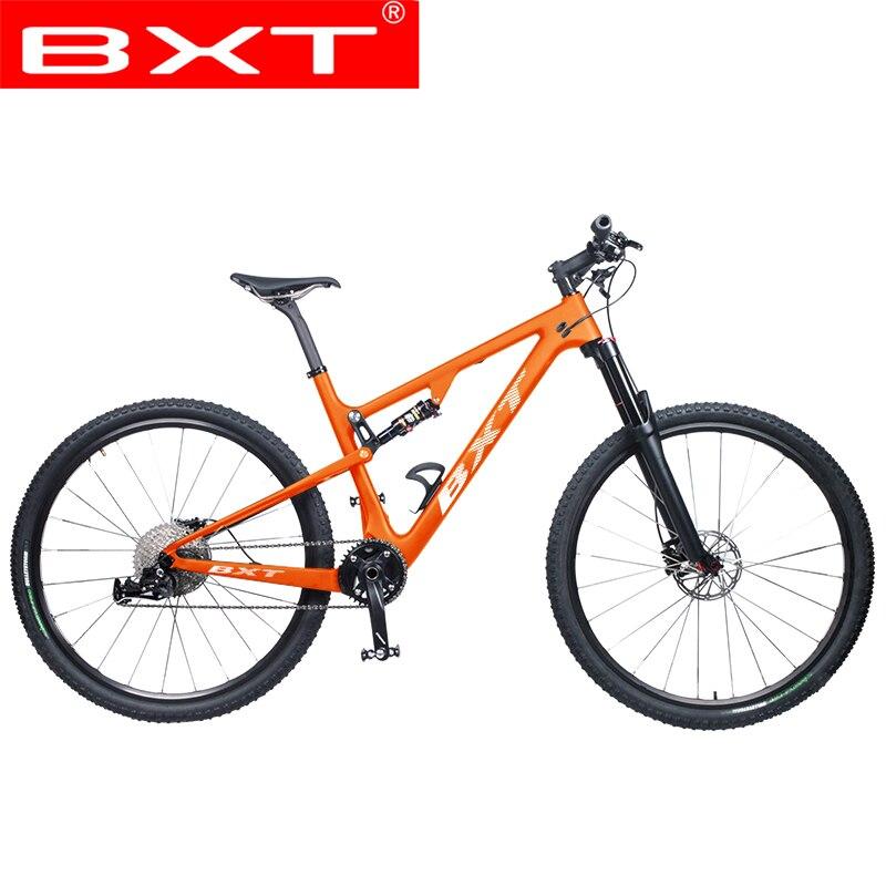 BXT 29er полный подвесной горный велосипед T800 карбоновый MTB велосипед 1*11S карбоновый 36T S/M/L/XL велосипедная Рама полный велосипед