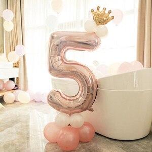 Image 4 - Leeiu Numero Foil Palloncini Palloncini Di Compleanno In Oro Rosa 1 2 3 4 5 6 7 8 9 Anni di Buon Compleanno decorazioni Del Partito Dei Capretti Palloncini