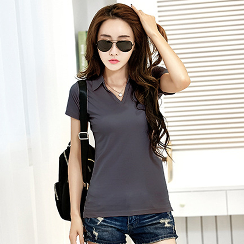New 2020 Polo Women Plus Size Short Sleeve 6 Colors Polo Shirt For Women Cotton Polos Mujer Summer Casual Tops Tees Ladies Polo
