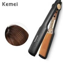 Kemei Professional Hair Curler Elektrische Curling Eisen Mais Dauerwelle Schiene Flache Eisen Welle Bord Keramik Digital Styling Werkzeuge KM 472