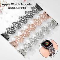 Braccialetto delle donne per Apple Watch Band Delle Ragazze Delle Signore del Metallo Dei Monili Della Cinghia Wristband per iWatch Serie 1 2 3 4 5 cinturino Bling 2020