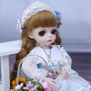 1/6 BJD Doll 30CM 18 Ball Joints Dolls With Full Outfits Dress Wig Shoes Headdress Makeup Girls DIY Toys Best Gifts Collection(China)