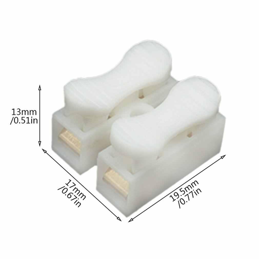 CH-2 de luz de techo dedicado terminales de cableado rápido conector de bloqueo automático tipo de presión terminales de conexión rápida