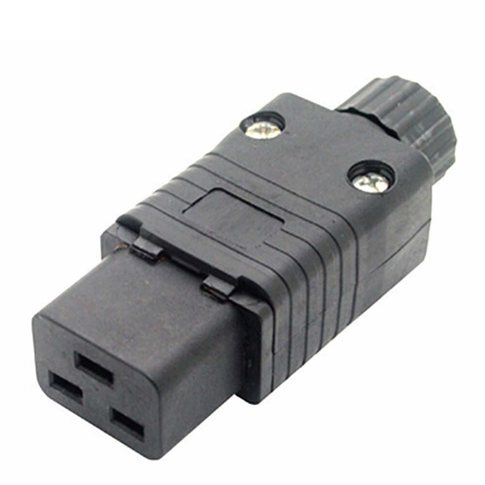 Black Copper 16A 250V Standart UPS PDU APC computer server C19 power removable wiring socket 3P cable converter