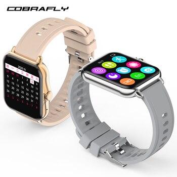 Смарт-браслет Cobrafly для фитнеса с поддержкой Bluetooth, 1,69 дюйма, HD-экран, спортивные часы, мужские и женские часы с монитором сердечного ритма и Э...
