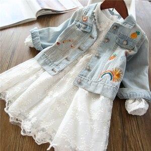 Image 4 - Jednorożec kurtka dżinsowa dla dziewczynki dzieci jesień wiosna dziewczynek haftowana kurtka dżinsowa 3 ~ 12 lat dziewczyny odzież wierzchnia