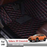 Artificial Leather Rug Surround Auto Interior Accessories LHD Car Floor Mats For subaru XV/Crosstrek 2018 2019 2020