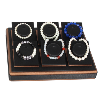 Pu drawing lines black ring bangle necklace tray jewelry packaging & display чашка для яйца black lines 1246765