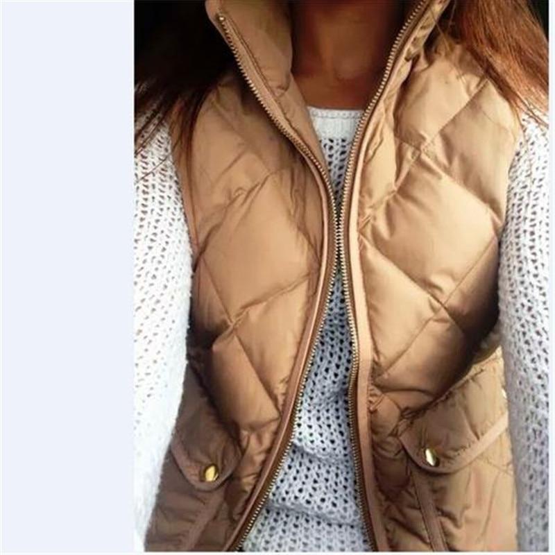 Women Winter Slim Fleece Warm Parka Vest Coat Sleeveless Zipper Jacket Vest Waistcoat With Pockets Plus Size 3XL Female Clothing