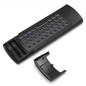 Image 5 - MX3 arkadan aydınlatmalı klavye uzaktan kumanda Air Fly fare 2.4G kablosuz Mini klavye 81 tuşları IR öğrenme Android TV kutusu