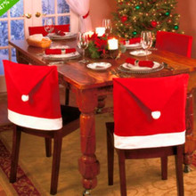 Christmas Chairs Cover Cap Non-woven Dinner Table Red Hat Santa Claus Chair Back Covers Xmas Christmas Decorations For home christmas chairs cover cap non woven dinner table red hat santa claus chair back covers xmas christmas decorations for home