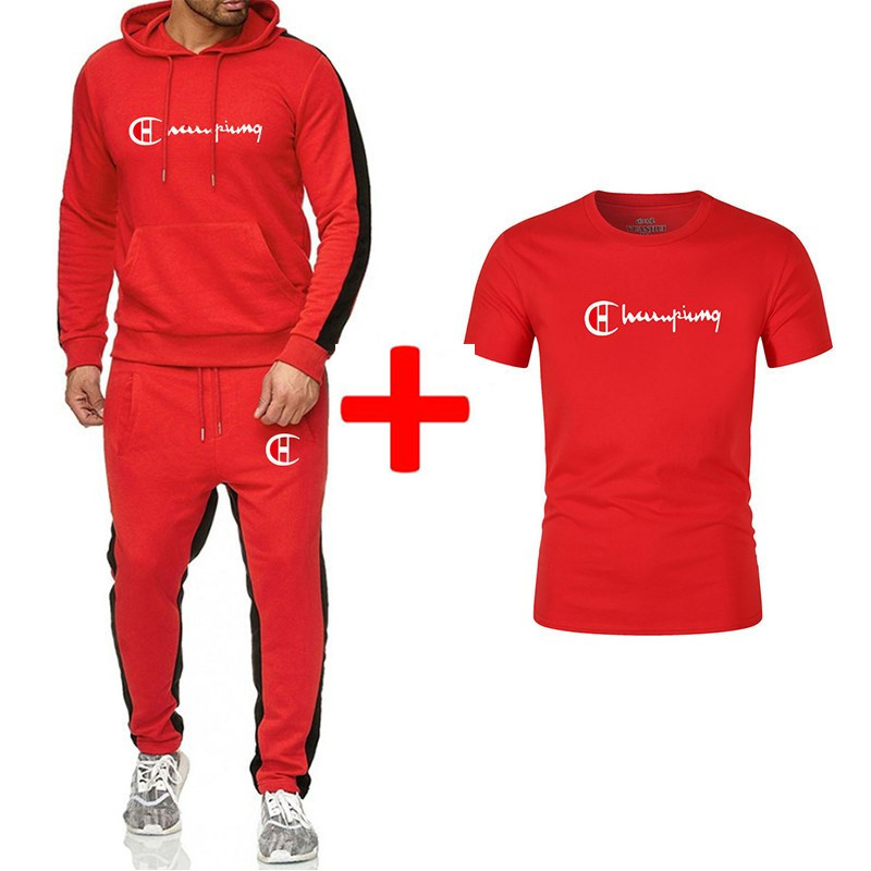 Brand New Brand Clothing Men Sets Fashion Autumn Winter Sporting Suit Hoodies sweatpants t Shirts 3 Pieces Sets Slim Tracksuit in Men 39 s Sets from Men 39 s Clothing