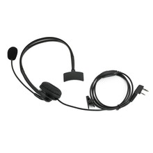 2 Pin Headset PTT MIC Earpiece Cancelling Overhead Headphone for BF-6 UV-5R UV-5 2Pin Walkie Talkie RA UV-B5(China)