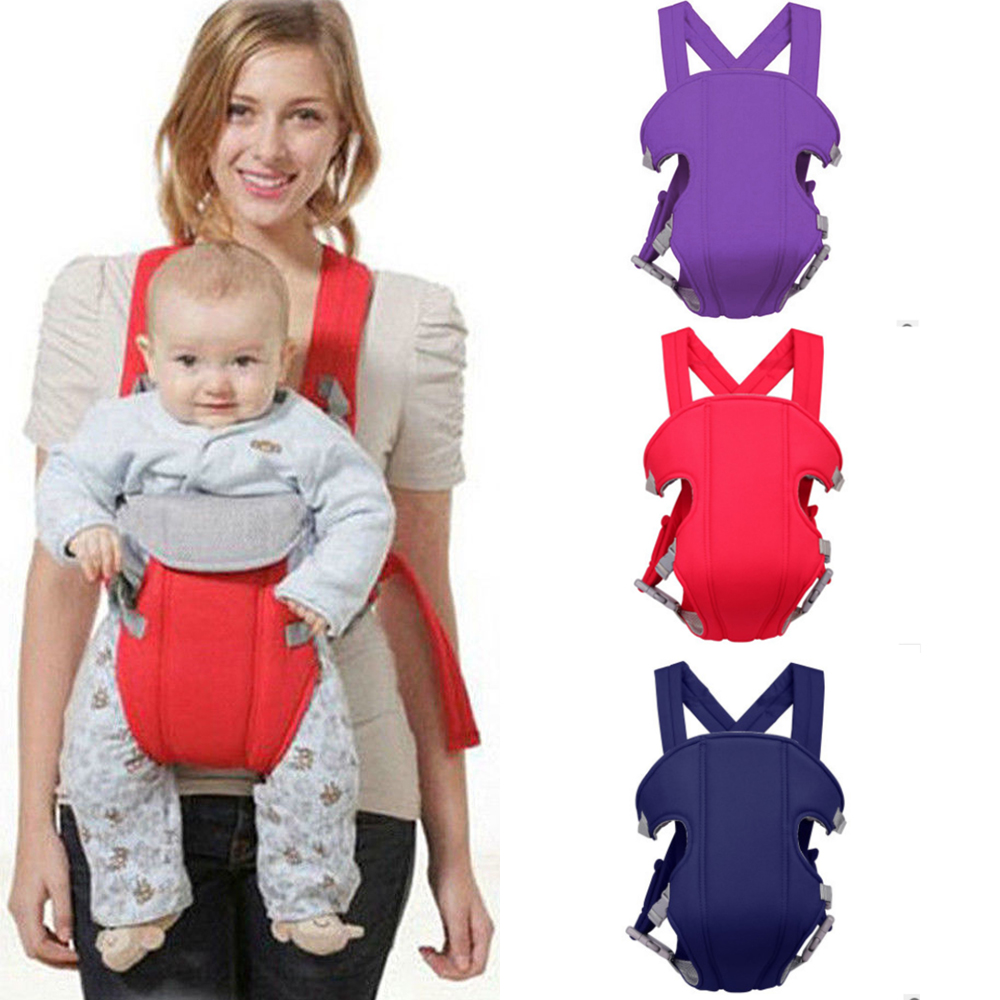 Adjustable Breathable Baby Carrier Comfortable Sling Backpack Front Facing Pouch Wrap Baby Kangaroo Adjustable Safety Carrier