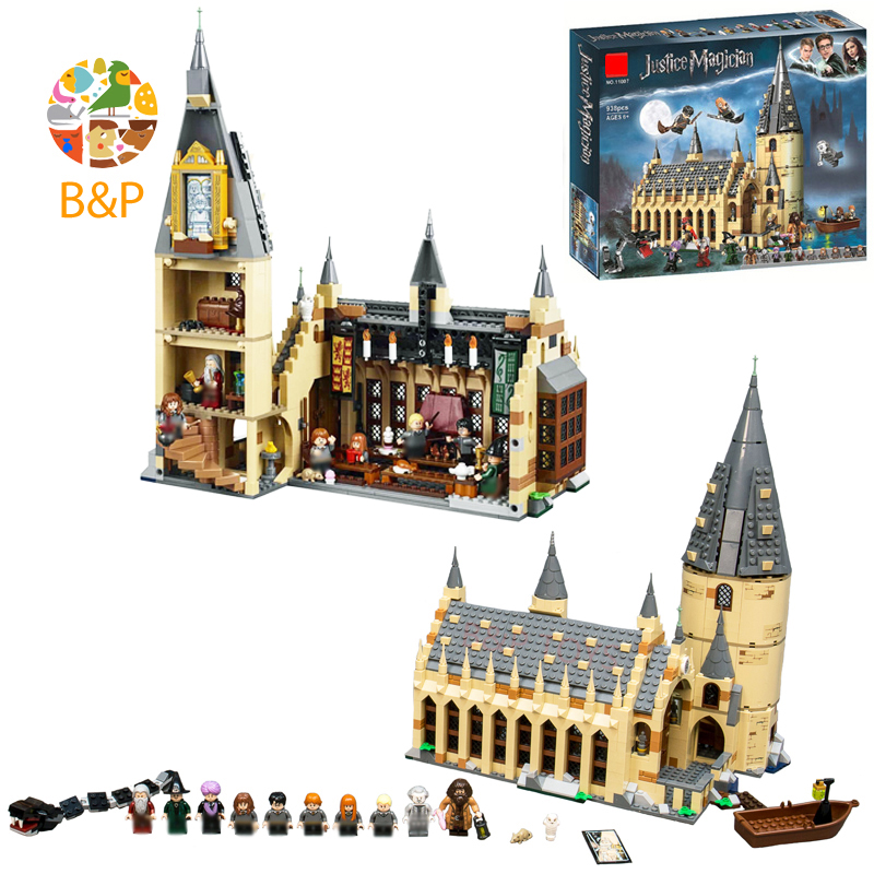 2018 NEW 75954 936Pcs Potter Building Block Series Great Wall House Compatible For Children Toys Christmas Gift 11007