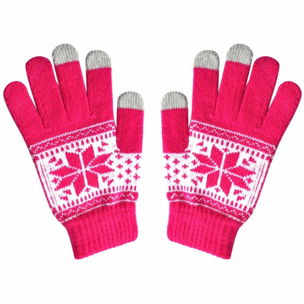 Fashion Men Women Winter Gloves Texting Cap Active Smart Phone Knit Soft Screen Gloves Guantes Tactical Gloves Handschoenen 2019