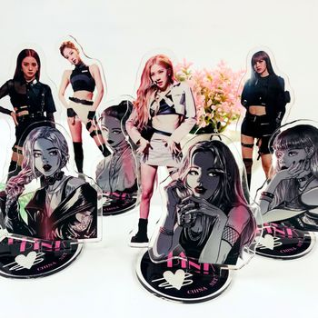 10pcs/lot Korean Star BLACKPINK kill this love black pink acrylic stand model action figure toy gift