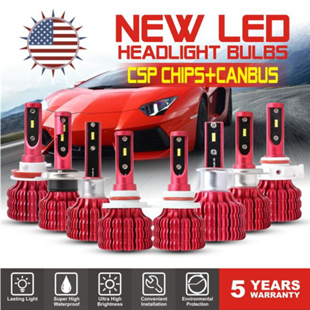 2Pcs Mini CSP Chip <font><b>LED</b></font> H1 H3 H7 <font><b>H4</b></font> H11 9005 9006 5202 Car <font><b>LED</b></font> <font><b>Headlight</b></font> Bulbs <font><b>100W</b></font> 12000LM 6500K Auto <font><b>Led</b></font> Canbus Light Lamp 24V image