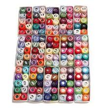 Мм, 150 цветов, хлопок, жемчуг, вышивка, нить, размер 8, вязание крючком, кружево, 5 грамм, двойная Мерсеризация, Египетский хлопок